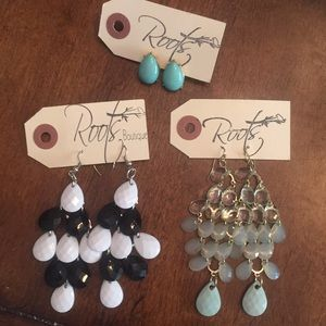 Roots Boutique- NWT - Set of 3 Earrings